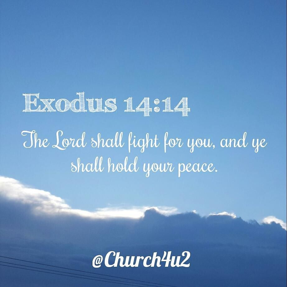 "Bible Quotes About Peace Exodus 1414 ""The Lord Shall Fight For You And Ye Shall Hold Your"